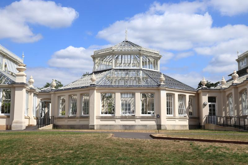 Victorian glasshouse. Kew Gardens. UNESCO World Heritage Site in Greater London. Temperate House - Victorian glasshouse royalty free stock photography