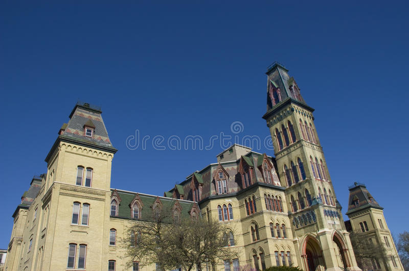 Victorian Gothic Style Architecture. Structure from the 1870's providing an excellent example of Victorian Gothic style architecture of the period. This building royalty free stock images