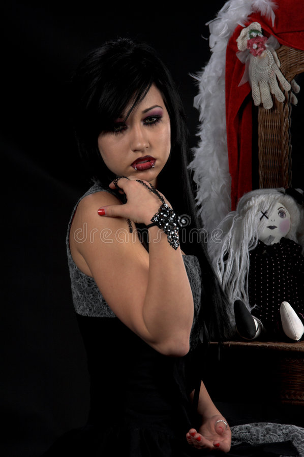 Victorian Gothic Woman stock photography
