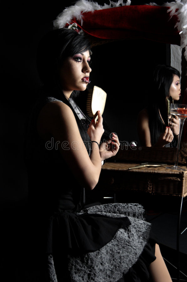Victorian Gothic Woman royalty free stock image