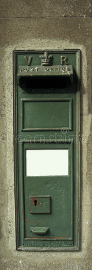 Free Victorian Green Letter Box. Royalty Free Stock Photography - 7326157