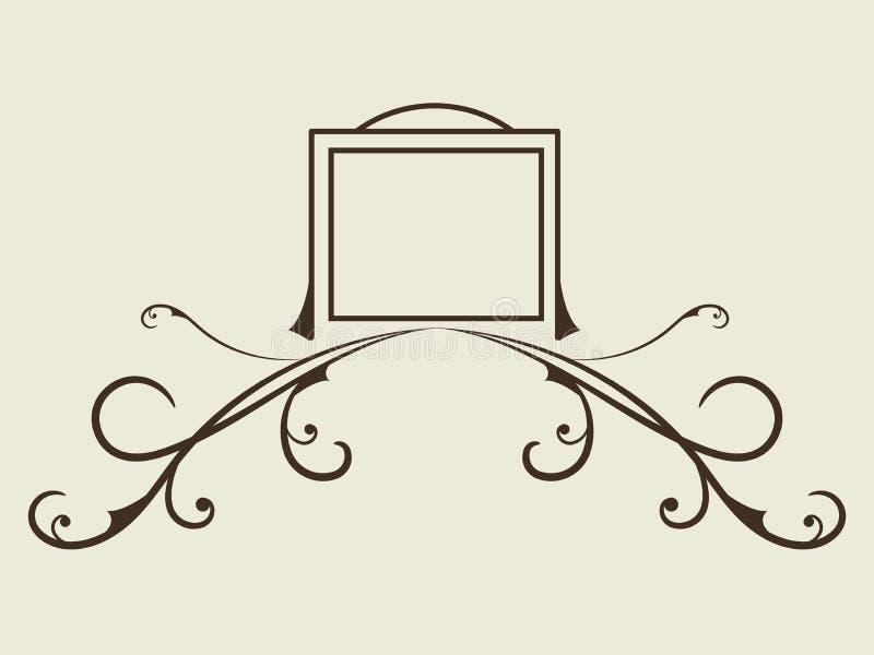 Victorian Grunge Calligraphic frames element Vintage Ornament Grußkarte Blüht Ornament Retro Royal Luxury stock abbildung