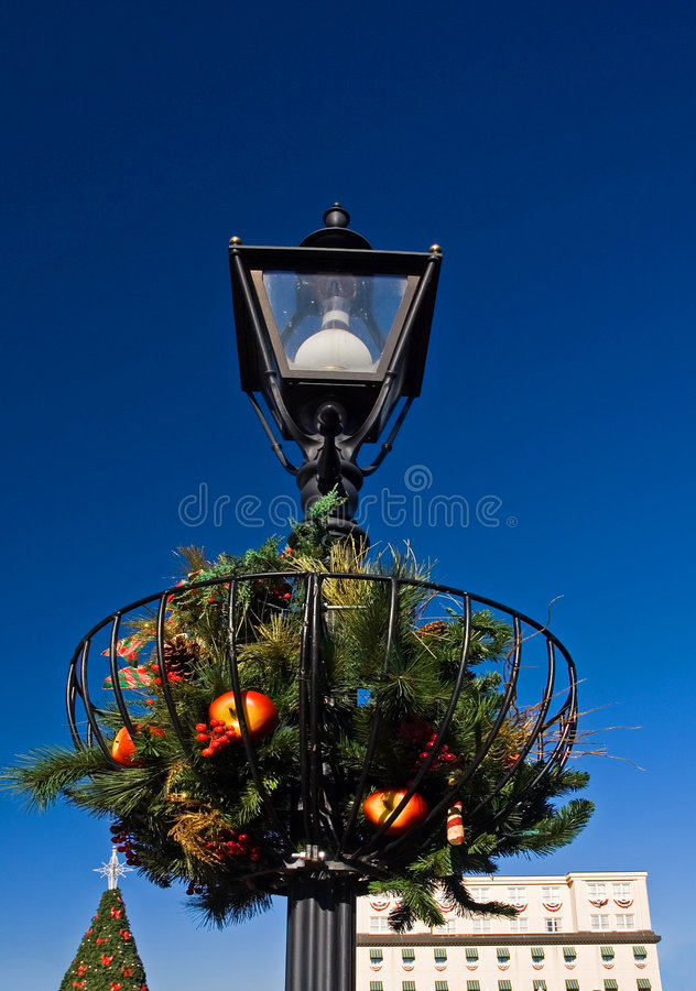 Download Victorian Holiday Street Decorations Stock Image - Image: 1569005