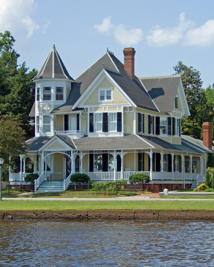 Victorian Home. A fully restored Victorian house in the southern part of the United States royalty free stock image