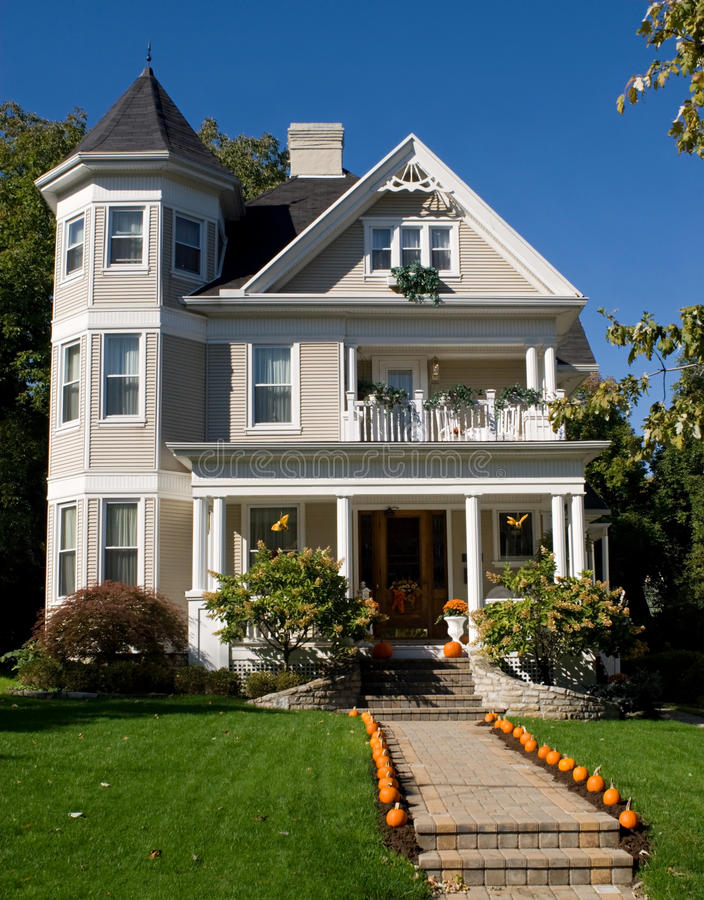 Download Victorian House in Fall stock image. Image of idyllic - 11209173