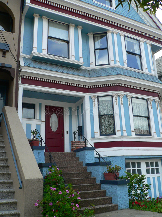 Victorian House San Francisco Royalty Free Stock Image