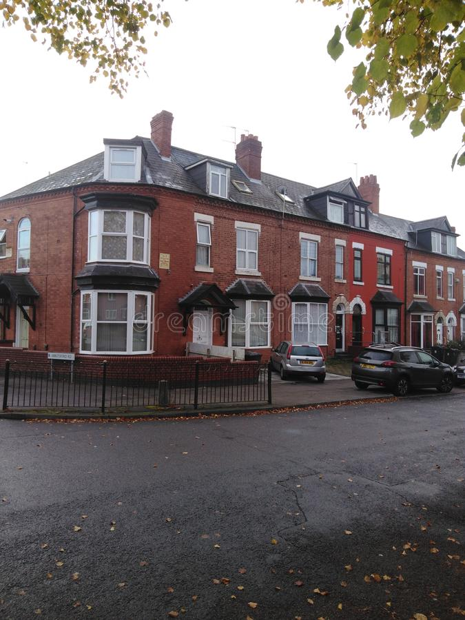 A victorian house in Sparkbrook Birmingham England stock image