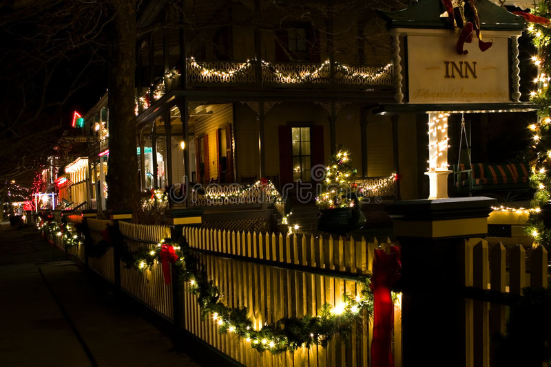 Download Victorian Houses At Christmas Stock Image - Image: 1713567