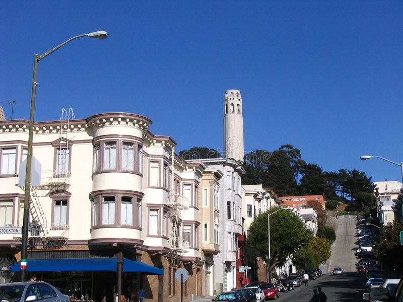 Victorian Houses in San Francisco royalty free stock photo