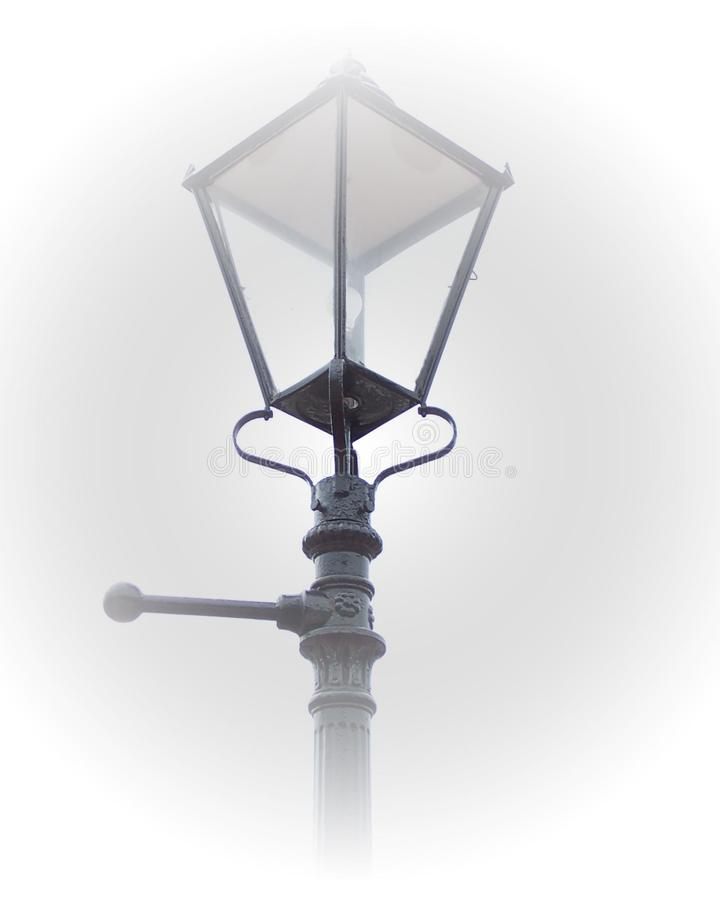 Victorian Lamp Post In Fog Free Stock Image