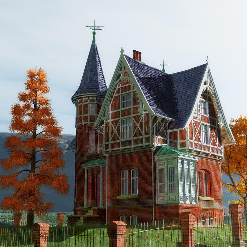 Victorian Mansion Stock Images