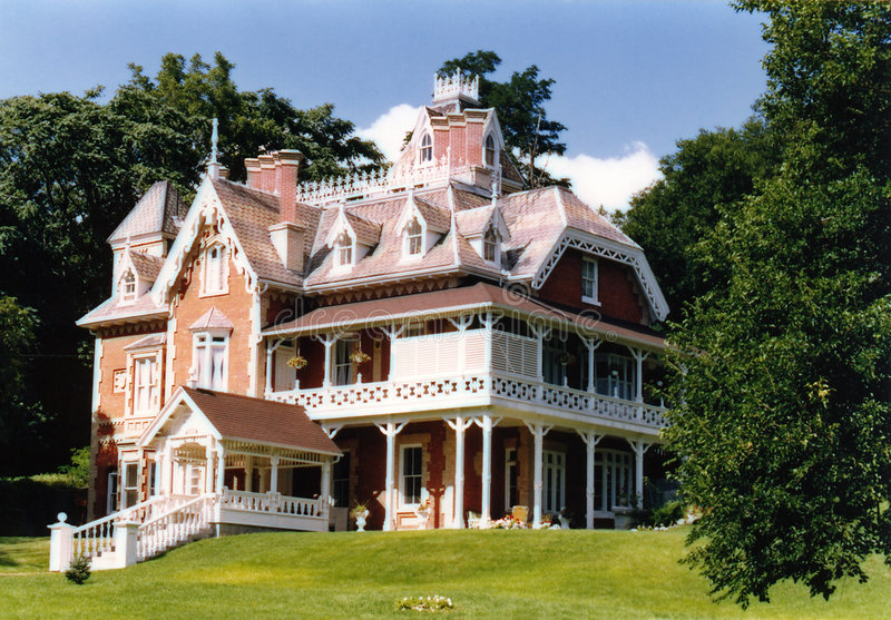Victorian Mansion royalty free stock photography