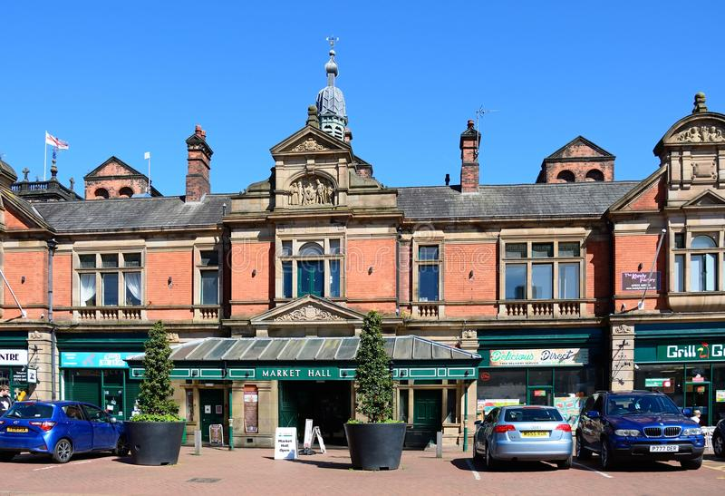 Victorian Market Hall, Burton upon Trent. royalty free stock photos