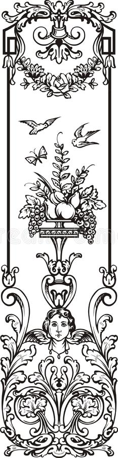 Victorian ornament letter royalty free stock images