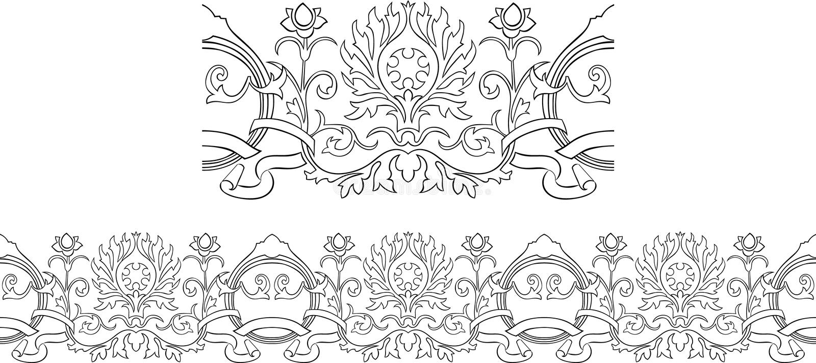 Victorian Outline Border Royalty Free Stock Photos