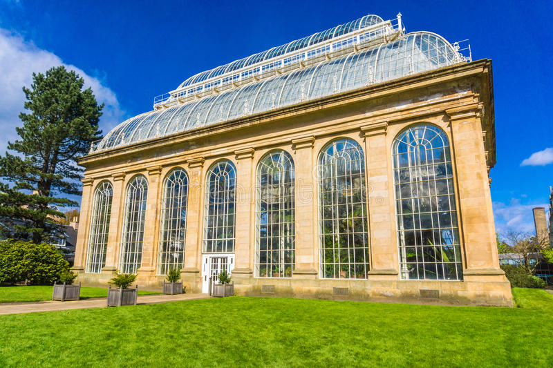 The Victorian Palm House at the Royal Botanic Gardens royalty free stock photography
