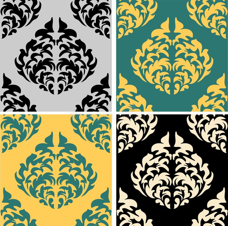 Victorian pattern in beautiful style. Material design. Floral wallpaper. Seamless victorian pattern. Vector design element. stock illustration