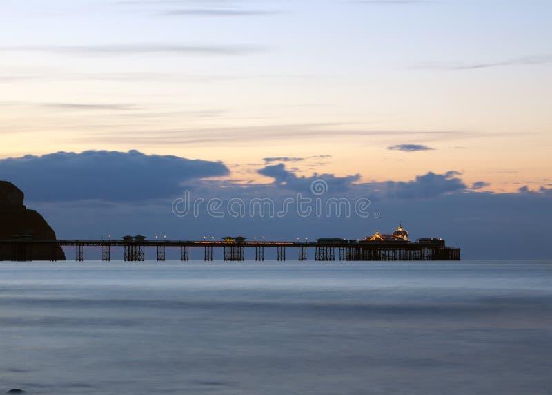 Victorian pier at Llandudno, North Wales stock photography
