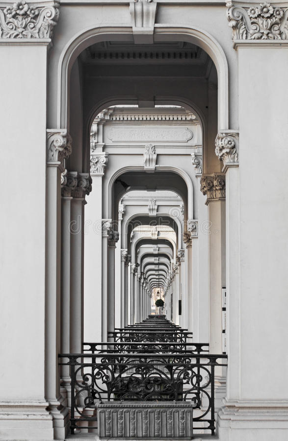 Victorian Porticos royalty free stock photography