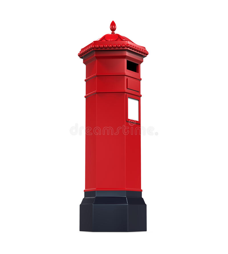Victorian Post Box royalty free illustration