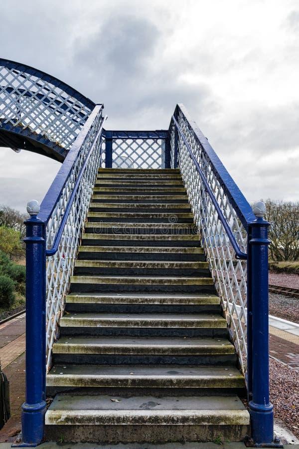 Victorian Railway Foot Bridge stock photography