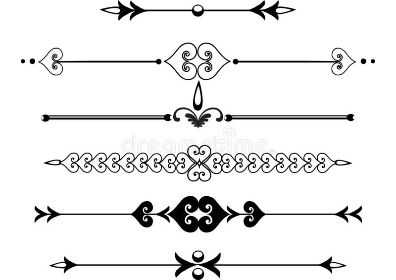 Download Victorian Rule Lines Or Scrolls Stock Vector - Illustration: 13764168