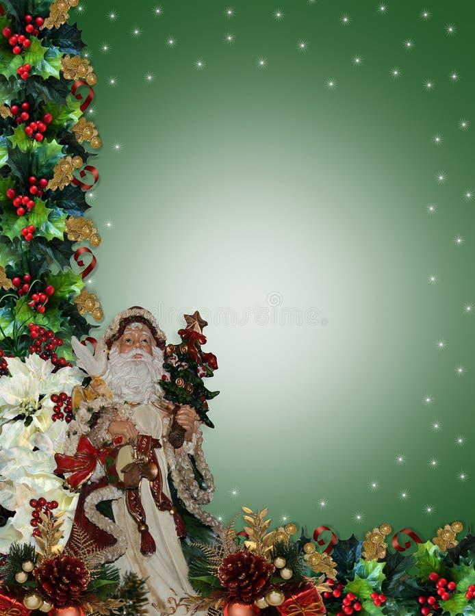 Victorian Santa de la frontera de la Navidad libre illustration
