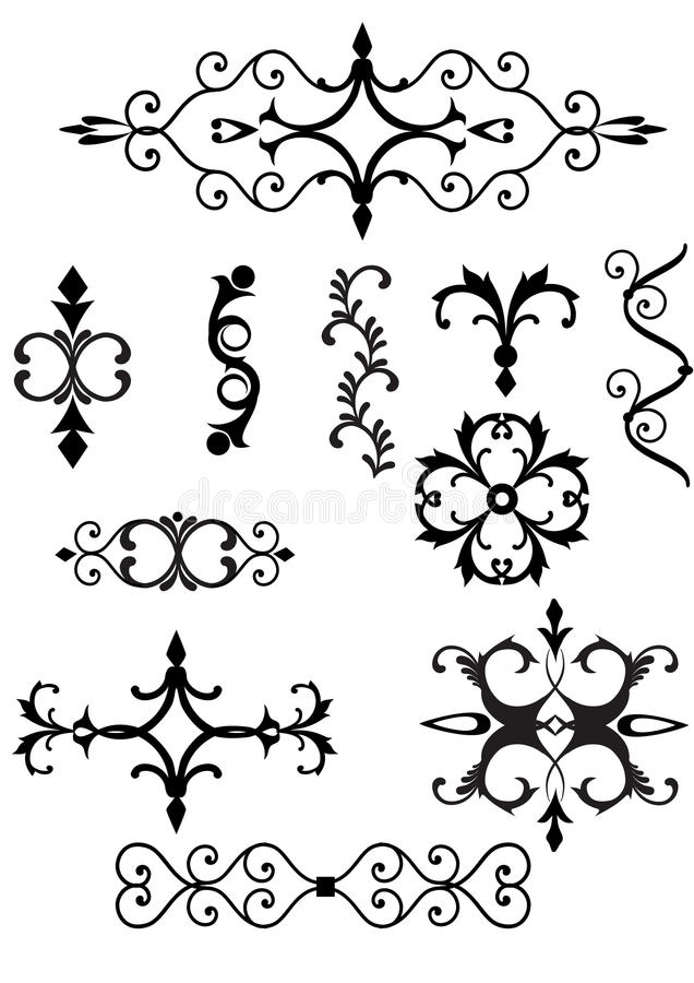 Download Victorian scroll elements stock vector. Image of flourish -  13947613