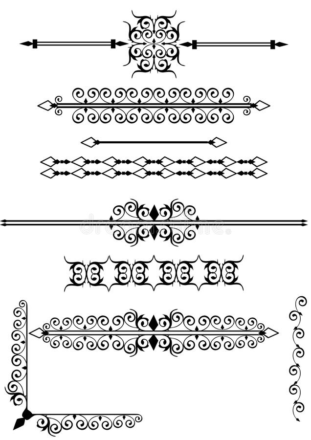 Download Victorian Scrolls Or Rule Lines Stock Vector - Image: 14121904