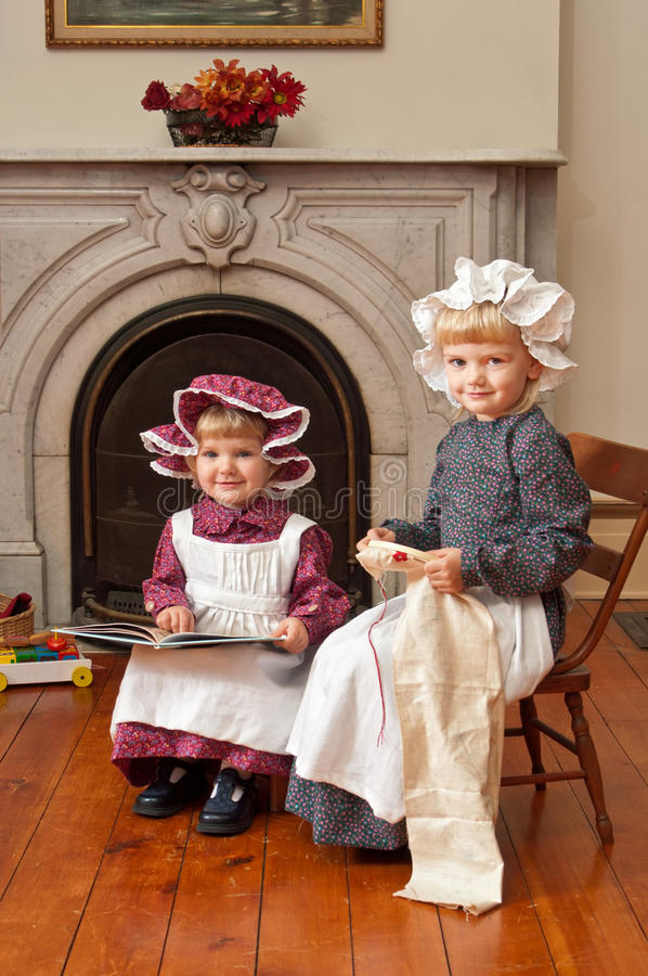 Download Victorian Sisters stock image. Image of cute, calico - 23580805