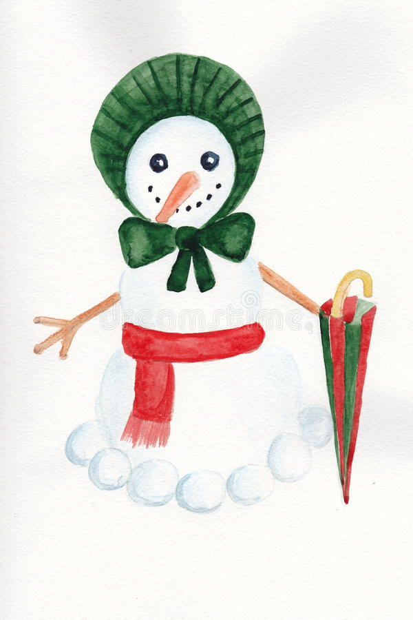 Victorian snowwoman royalty free stock images