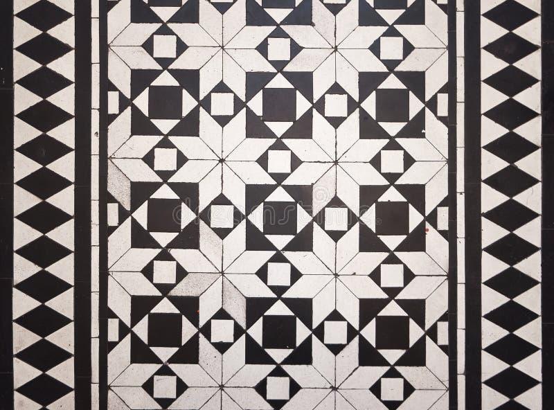 Victorian style floor tile pattern stock photos