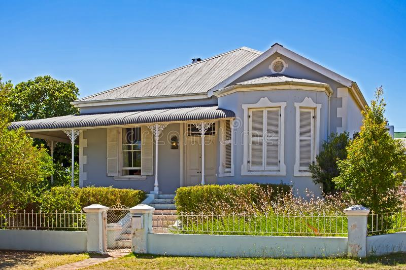 Victorian style house. With ornate veranda in small town in South Africa stock images
