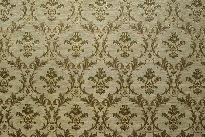 Victorian style vintage pattern on wall. Ornamental background wallpaper stock photography