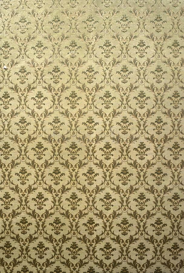 Victorian style vintage pattern on wall. Ornamental background wallpaper. Pastel tones royalty free stock image