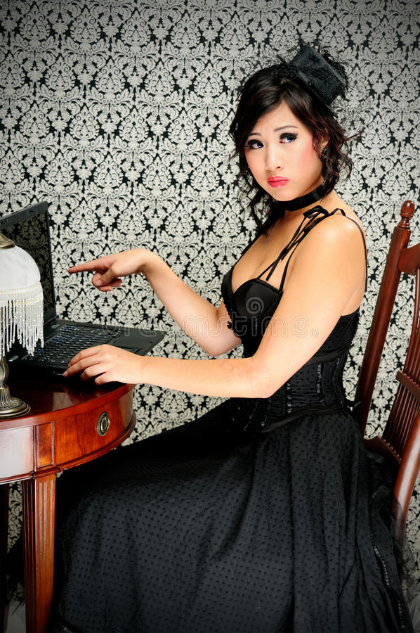 Download Victorian Technology stock image. Image of computer, corset - 11257727