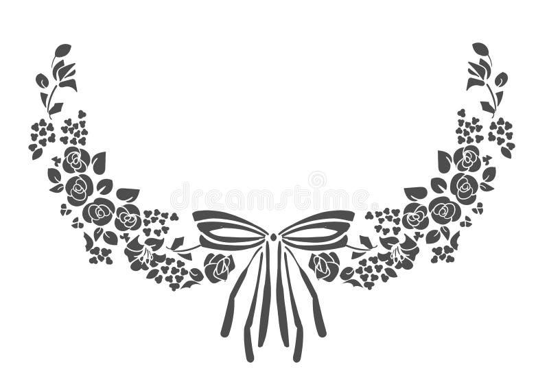 Victorian Vektor des Gestaltungselementrahmenblumen-Bogens lizenzfreie abbildung