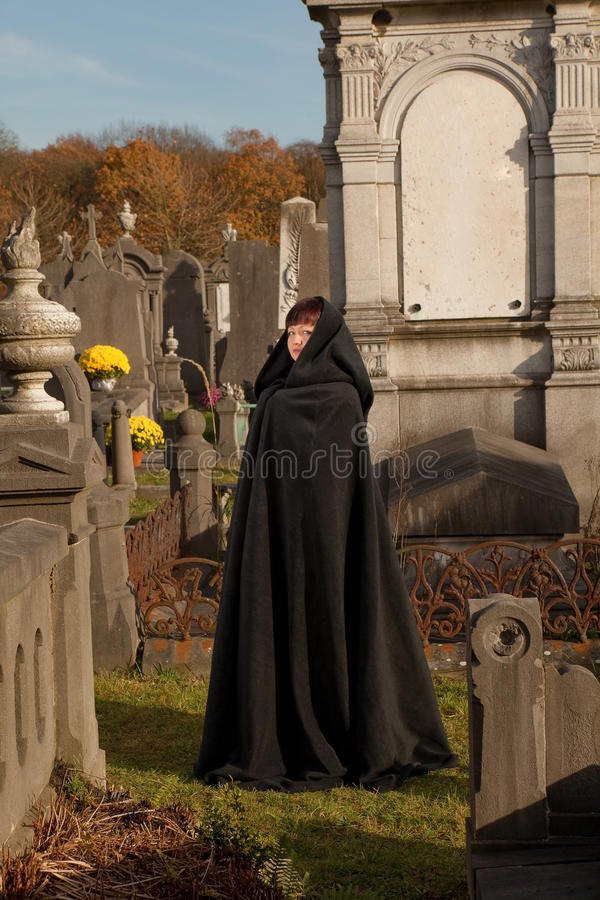 Download Victorian visitor stock image. Image of lady, alone, cemetery - 21277831