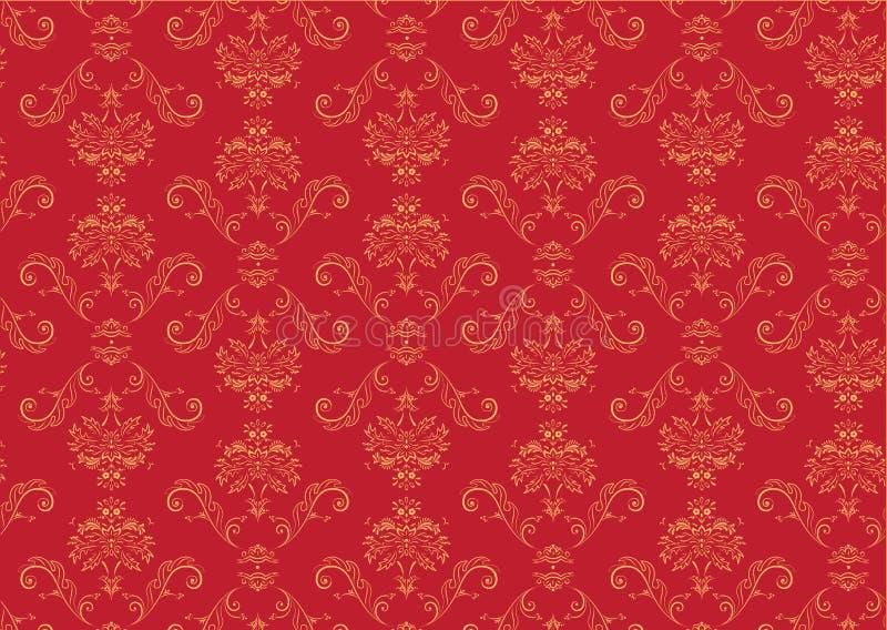Victorian wallpaper Pattern vector illustration