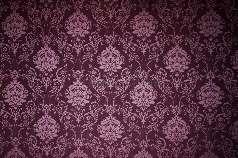 Victorian wallpaper textures. Victorian ivy and flowers wallpaper texture royalty free stock images