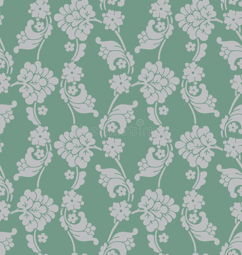 Victorian Wallpaper Tiled Image royalty free illustration