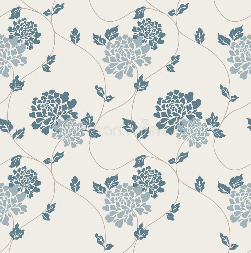 Victorian Wallpaper Tiled Image vector illustration