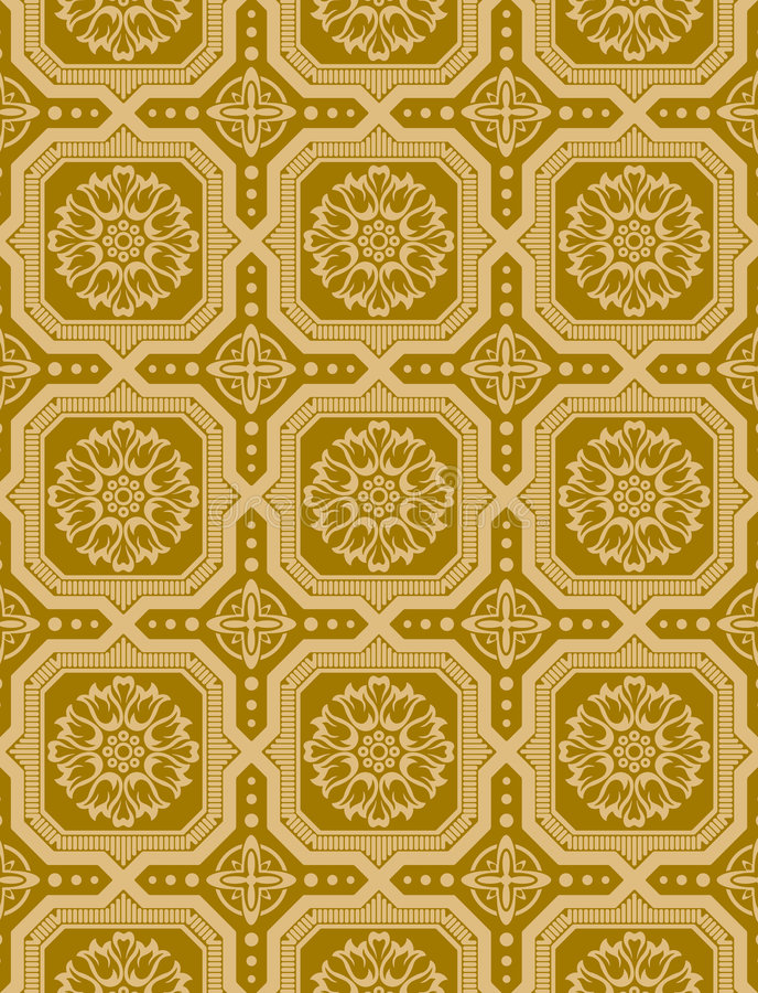 Victorian Wallpaper Vector 3. A victorian wallpaper pattern created in Adobe Illustrator royalty free illustration