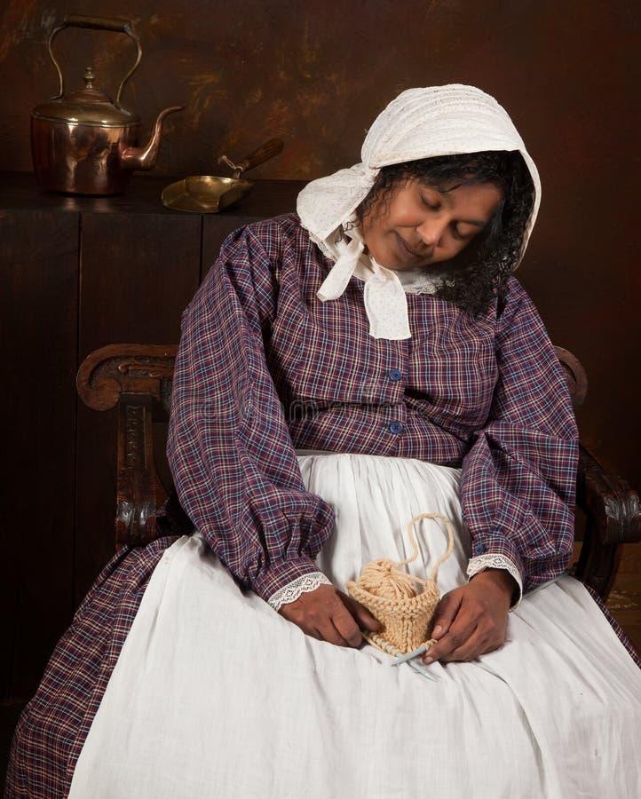 Download Victorian woman sleeping stock photo. Image of needles - 17636296