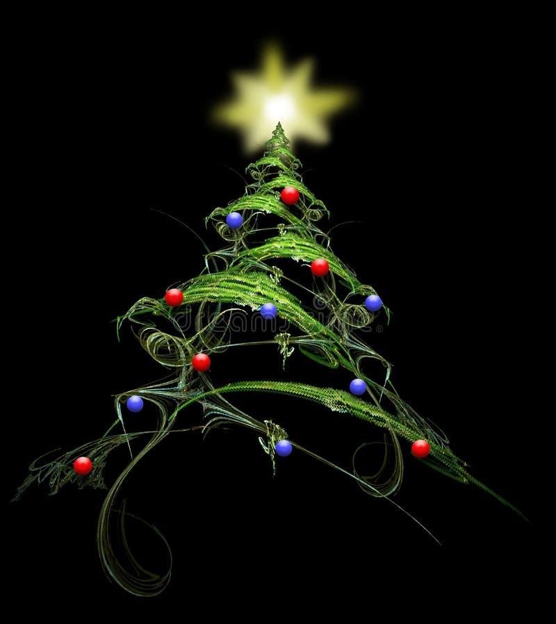 Victorianesque Weihnachtsbaum, verziert lizenzfreie abbildung