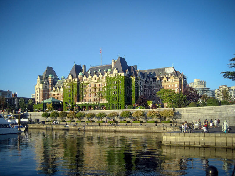 Victorias schöner innerer Hafen, Vancouver Island, B C , Cana lizenzfreies stockfoto