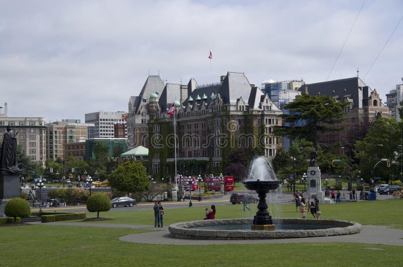 Victorias Stadtzentrumansichten BC stockfotos