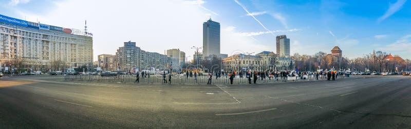 Victoriei ajusta, protesta de Rumania, día 4 foto de archivo libre de regalías