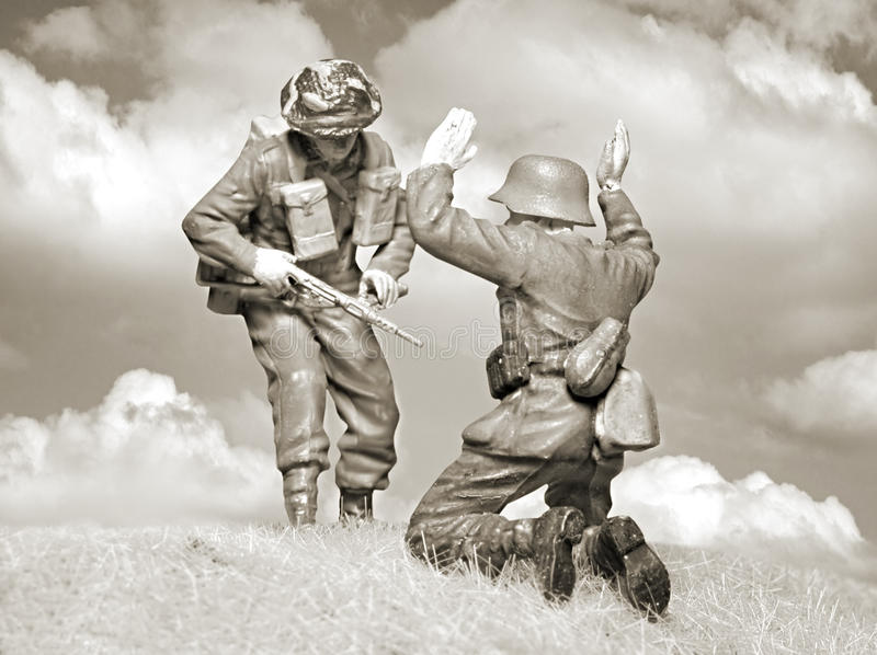Download Victorious British Soldier And Fallen Nazi Stock Image - Image: 10762501