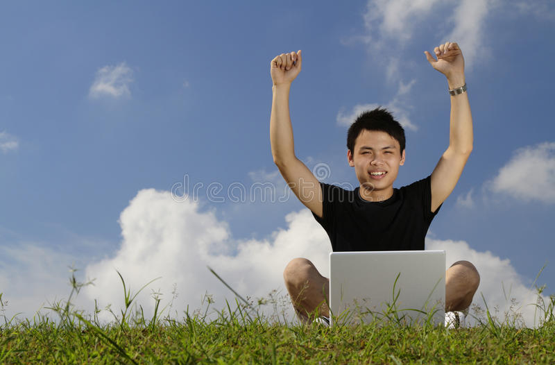 Victorious College Student Stock Photos